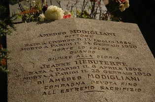 Amedeo Modigliani grave